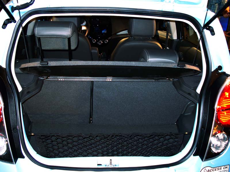 Chevy Spark EV cargo space not used up by lithium ion battery pack