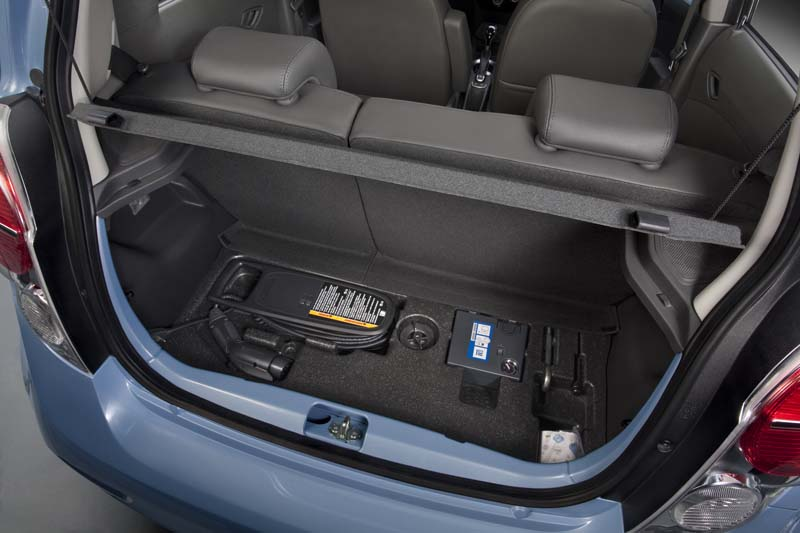 2014 Chevrolet Spark EV charge cable storage | Chevy Spark ...
