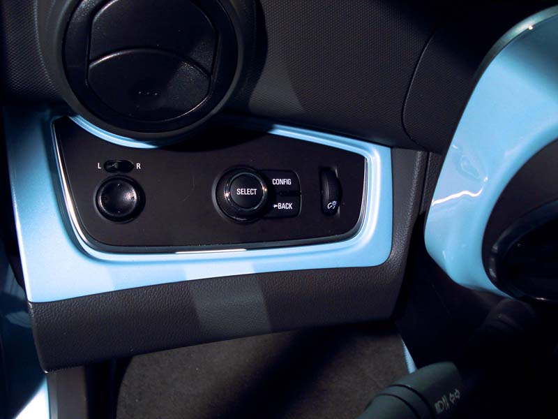 Spark EV buttons on interior panel