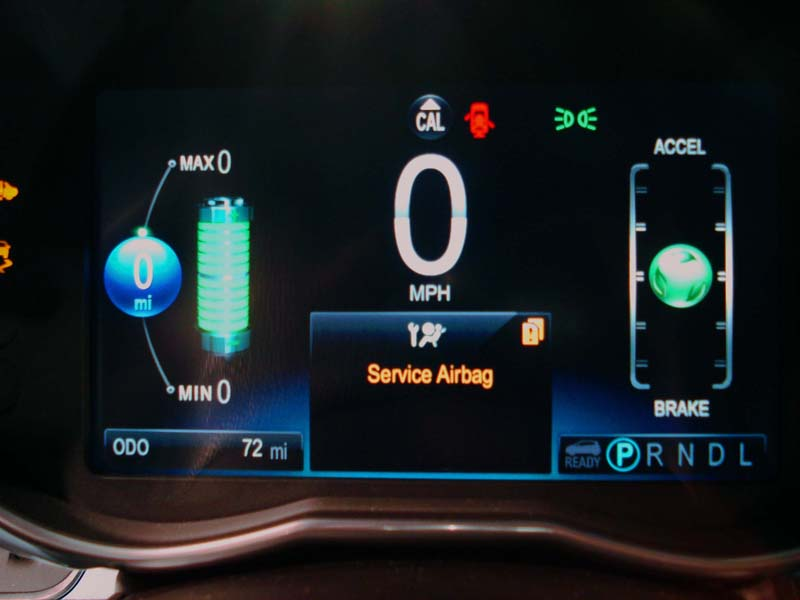 Display panel on dash of Chevy Spark EV