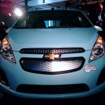 Closed off grill on Spark EV due to limited cooling needs of electric powertrain