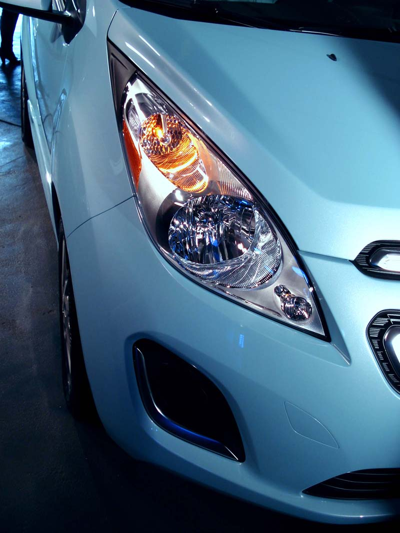 Chevy Spark EV large front headlight