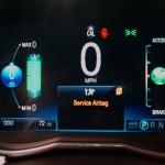 Display panel on dash of Chevy Spark EV